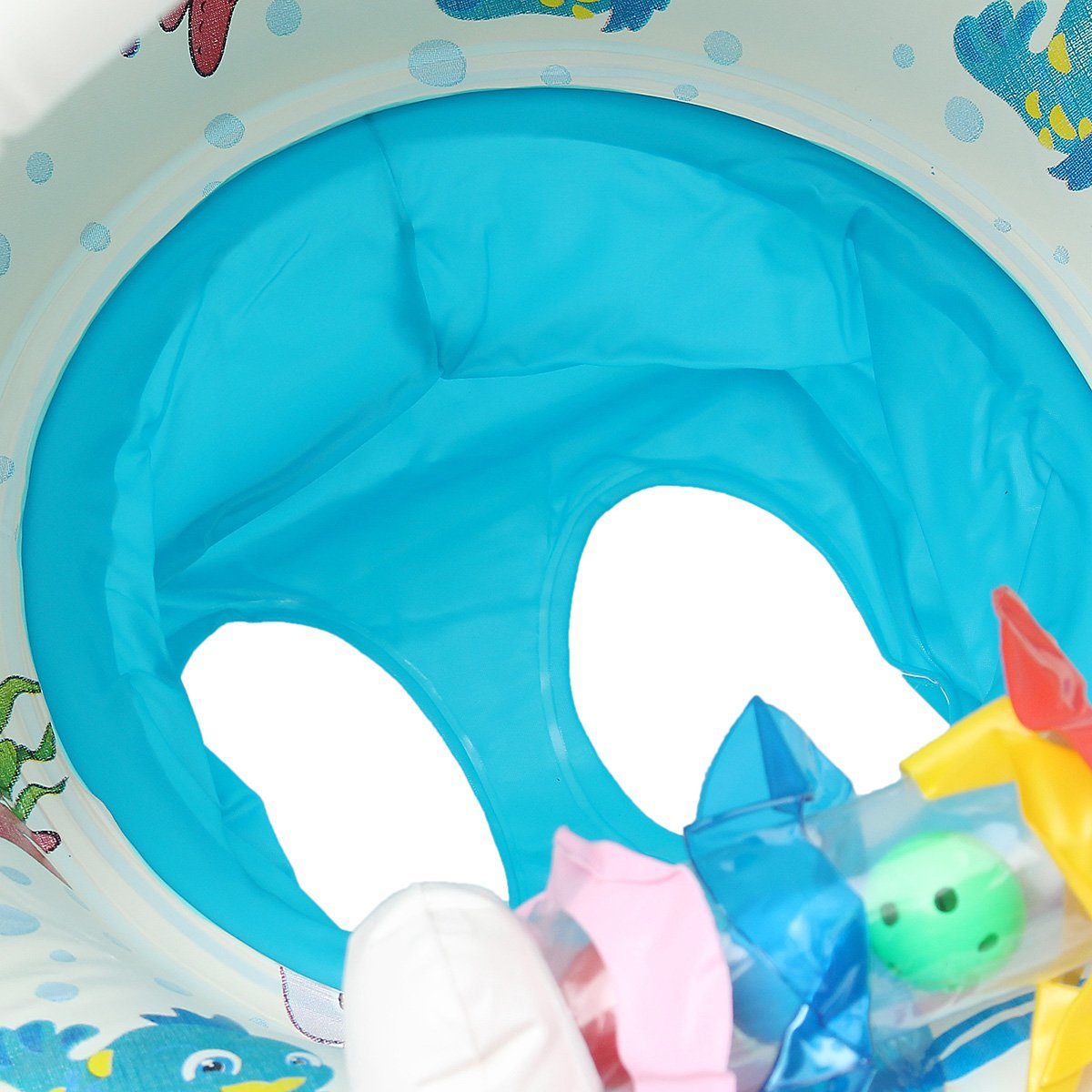 Water Sports WD Inflatable Mother Baby Swimming Ring Swim Pool Water Seat Float with Canopy Sunshade by Wincom Dishman (Image #6)