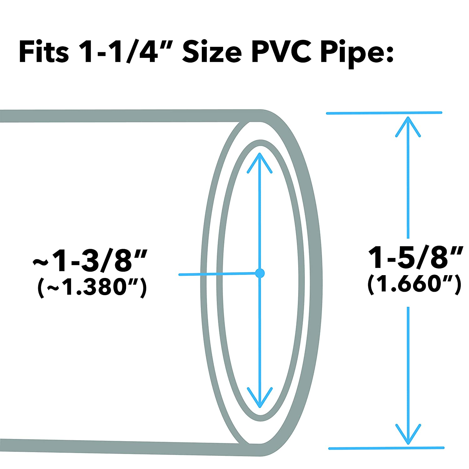 Furniture Grade Blue Pack of 8 FORMUFIT F034TEE-BL-8 Tee PVC Fitting 3//4 Size