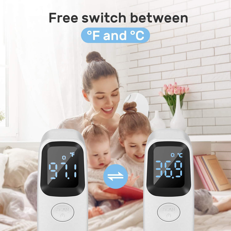Stirnthermometer Baby Baby Fieberthermometer,Fieberalarm LCD-Bildschirm und Speicherfunktion,Mehrweg Multifunktions Infrarot Thermometer Fieberthermometer