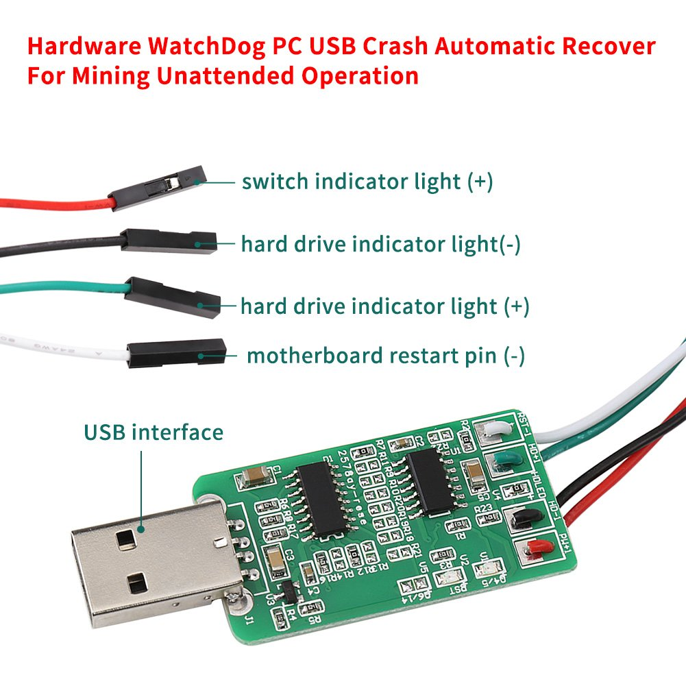 Hardware WatchDog USB for Mining Unattended Operation Crash Automatic Recover OJ