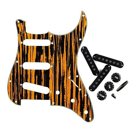 FLEOR estilo Sss 11 agujeros guitarra eléctrica golpeador cero placa con Pickup Covers 2tiv – Puntas