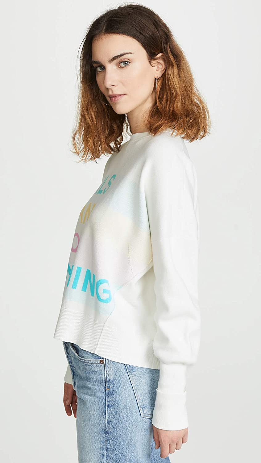 Zadig /& Voltaire Womens Girls Can Do Anything Sweatshirt