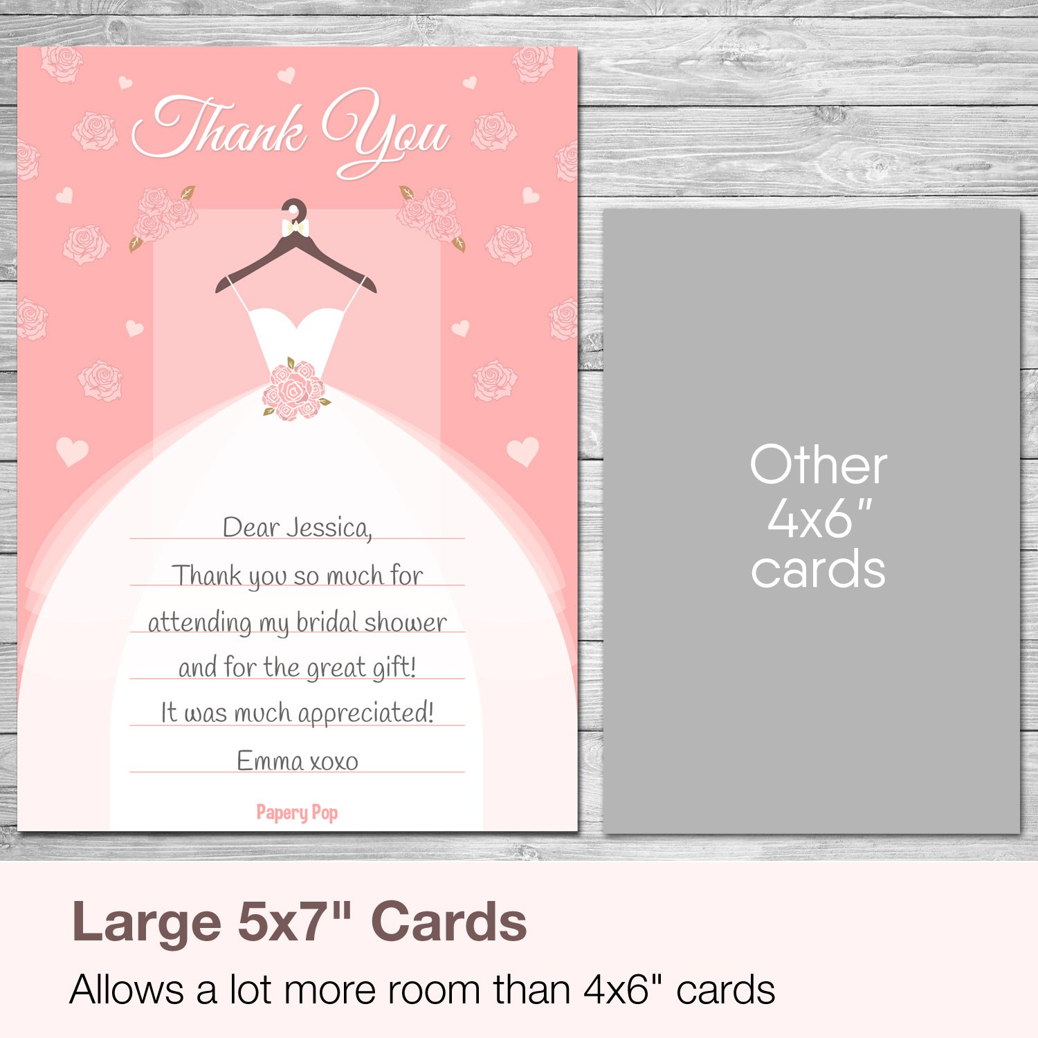 30 bridal shower thank you cards with envelopes wedding shower thank you cards amazonca office products