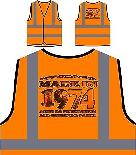 Auto d'epoca originale prodotto nel 1974 Personalizzato Hi Visibilità Giacca Gilet Arancione di sicurezza u759vo