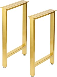 Metal Table Legs Desk Legs Heavy Duty Furniture Legs for Coffee Or Computer Table Legs of 28 inch (Gold)