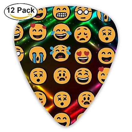 Emoji - Púas de guitarra clásicas de celuloide con forma de 351 para guitarra, ideal
