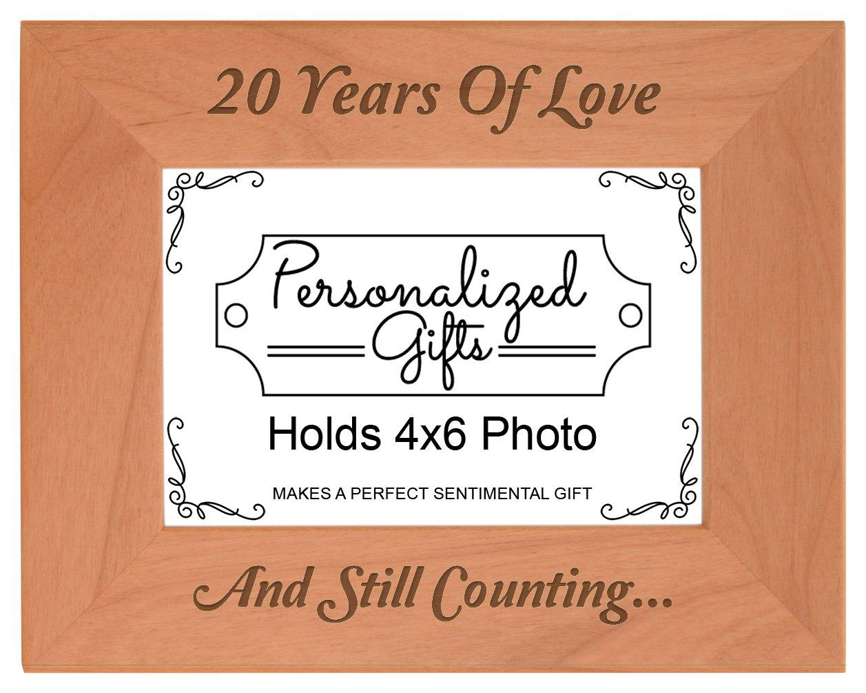 20. Hochzeitstag Geschenke Geschenke Geschenke Love natur Holz Gravur Bilderrahmen, holz, holz, 4x6 Horizontal B0191R66BE | Sonderpreis  78a73c