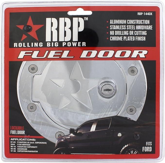 Chrome Locking Gas Door for Ford F-150 RBP-147CK RBP