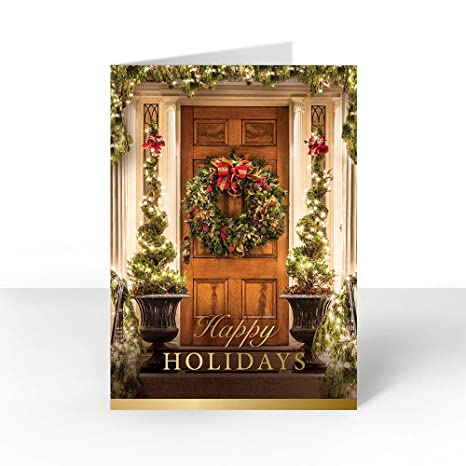 Amazon pack of 25 wall street greetings holiday door 5 x 7 pack of 25 wall street greetings holiday door 5 x 7 holiday card with 25 gold m4hsunfo