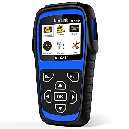 NEXAS LUMNX-NL102P+FBA Heavy Duty Truck Scan Tool Auto Scanner with  DPF/Sensor Calibration/Oil Reset + Check Engine for Cars Truck & Car 2 in 1  Code