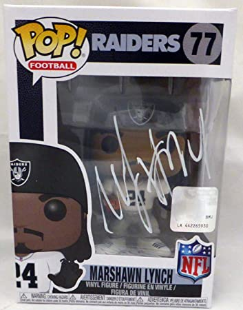Image Unavailable. Image not available for. Color  Marshawn Lynch  Autographed Funko Pop Oakland Raiders ... e04b732ca