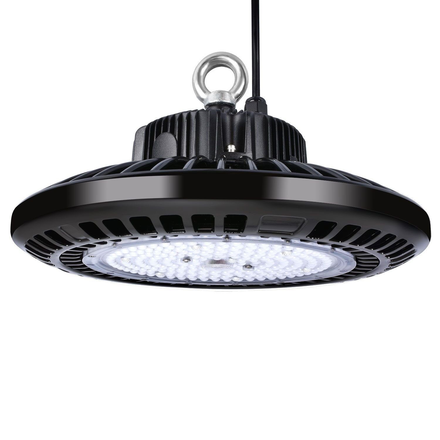 LUMIEREHOLIC 200W UFO LED High Bay Light, Replacement for 800W HID/HPS Bulb, Daylight White SMD 3030, LED Warehouse Barn Gym Garage Commercial Shopping Mall Lighting 5000K by Lumiereholic
