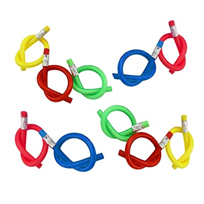 10 Pieces Bendable Pencils with Eraser for Children   30 cm Flexible Pencil   Toys for Kids Birthday Gifts   Party Giveaways