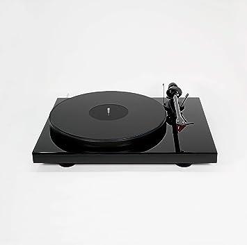 Hudson Hi-Fi Alfombrilla de plexiglás de acrílico Tocadiscos LP Slipmat, Negro