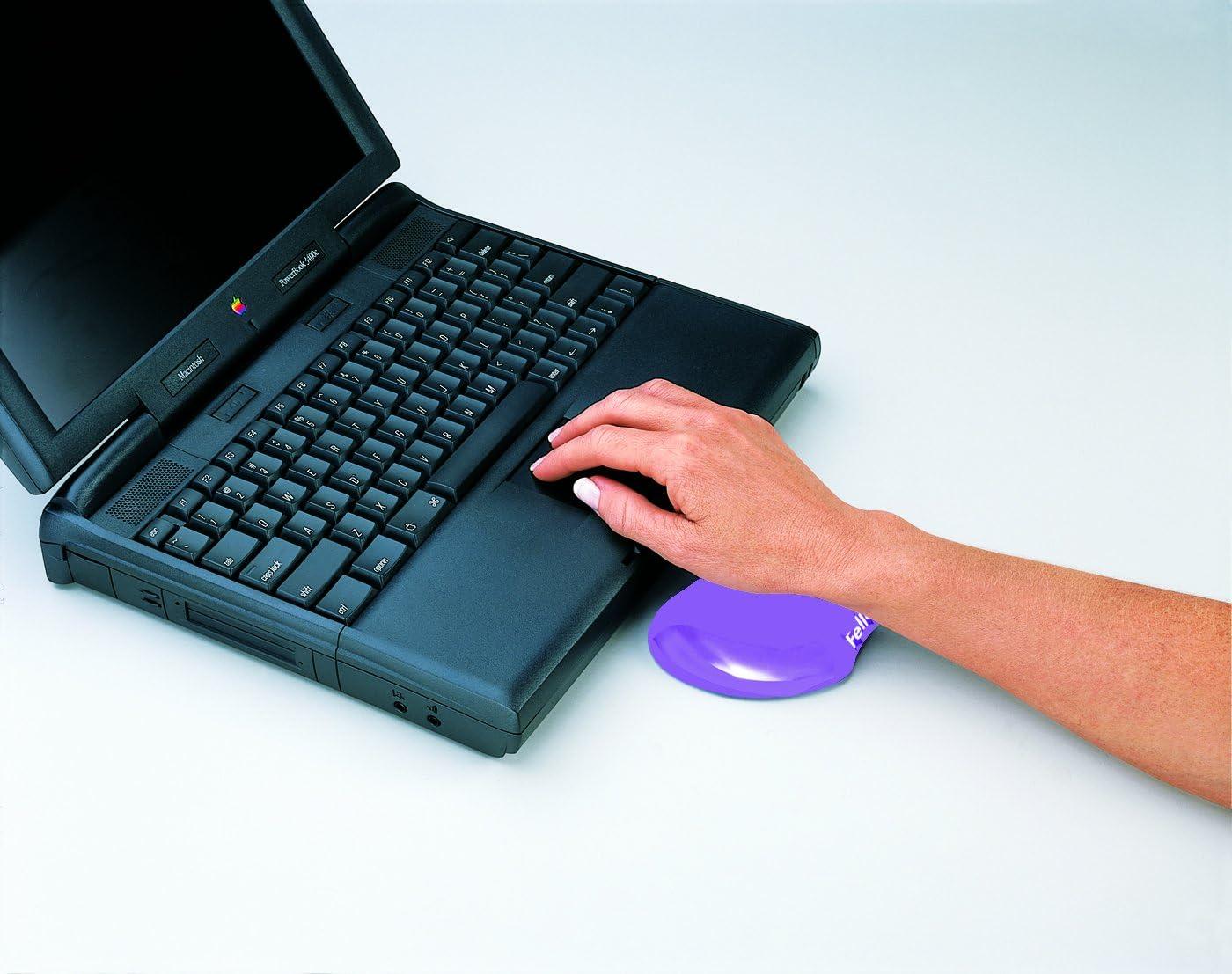 Fellowes Purple Gel Crystal Flex Rest Transparent Mini Wrist Rest