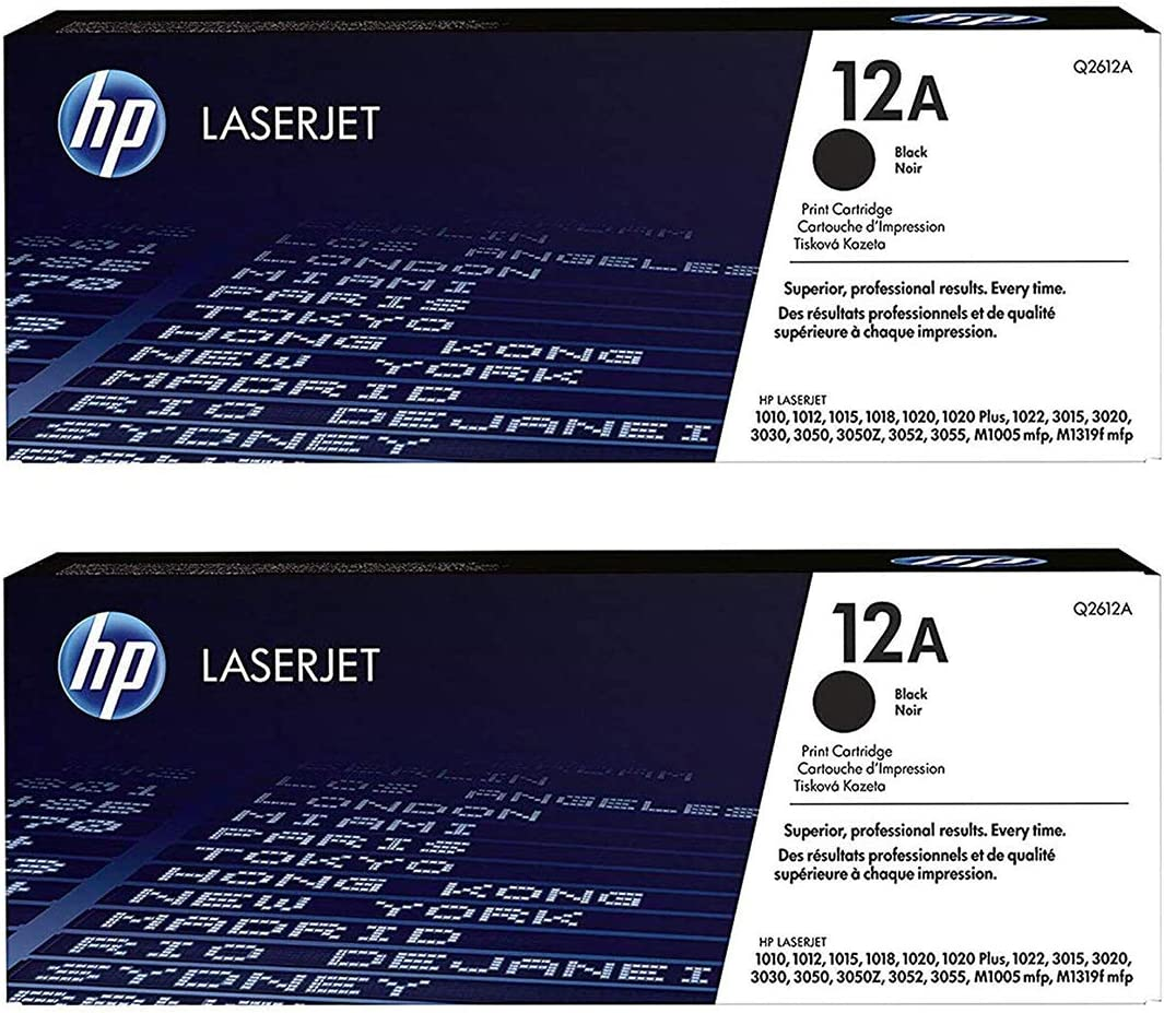 HP 12A | Q2612A | Toner Cartridge | Black - 2 Pack