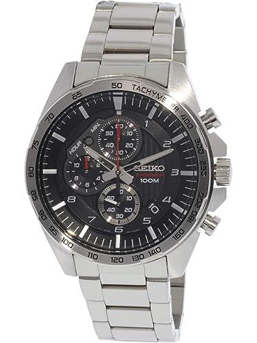 Seiko Reloj Cronógrafo para Hombre de Cuarzo con Correa en Acero Inoxidable SSB319P1: Amazon.es: Relojes