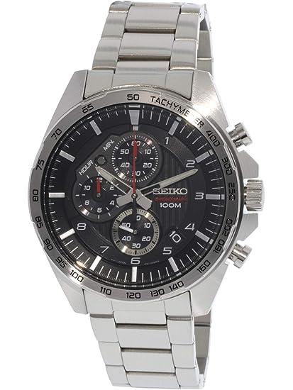 Reloj Seiko Quartz SSB319P1 - Cronógrafo Cuarzo para Hombre en Acero Inoxidable: Amazon.es: Relojes