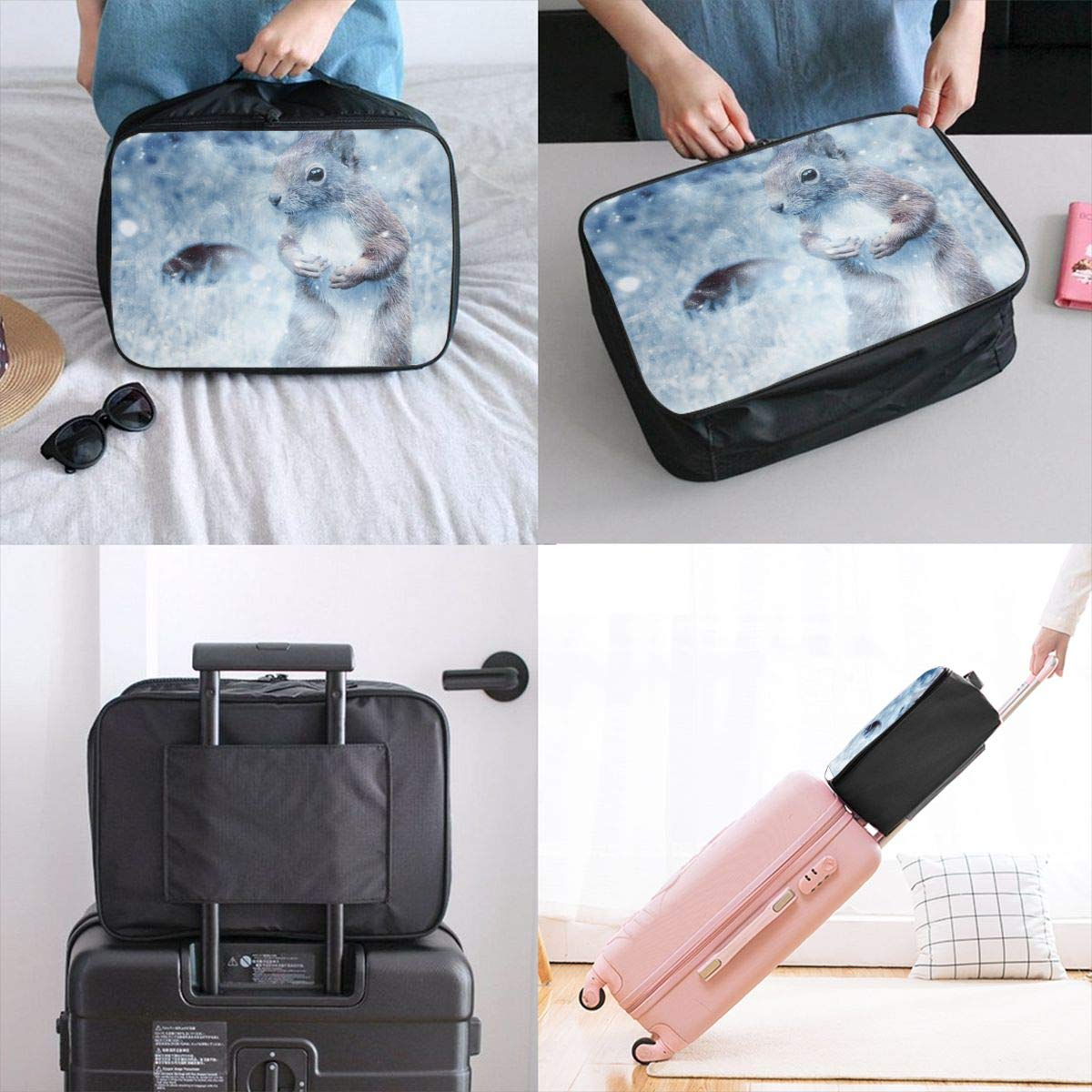 Artistic Fantasy Color Doodle Travel Lightweight Waterproof Foldable Storage Carry Luggage Large Capacity Portable Luggage Bag Duffel Bag