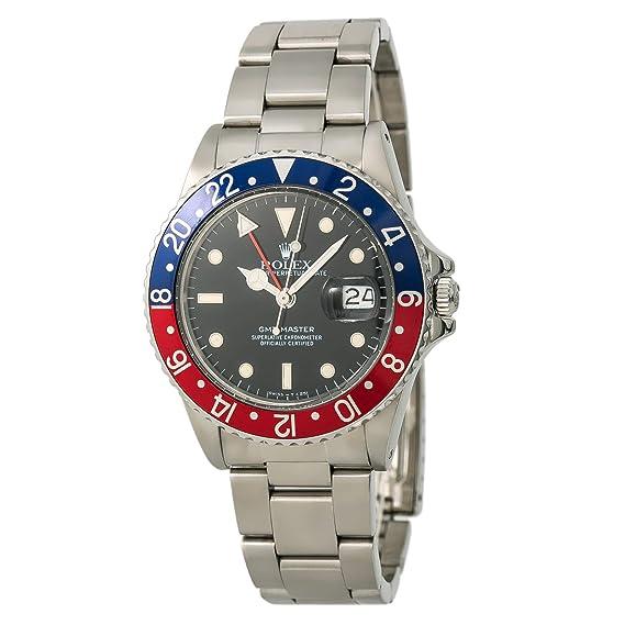 Rolex GMT Master 16750 - Reloj automático, automático, autoviento, Masculino (Certificado de