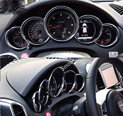 Dash Gauge Cover Ring Trim for Porsche Cayenne GTS Turbo S 2012-2018