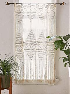 Flber Macrame Curtain Wall Hanging Macram Handwoven Boho Wedding Backdrop Kitchen Curtains50