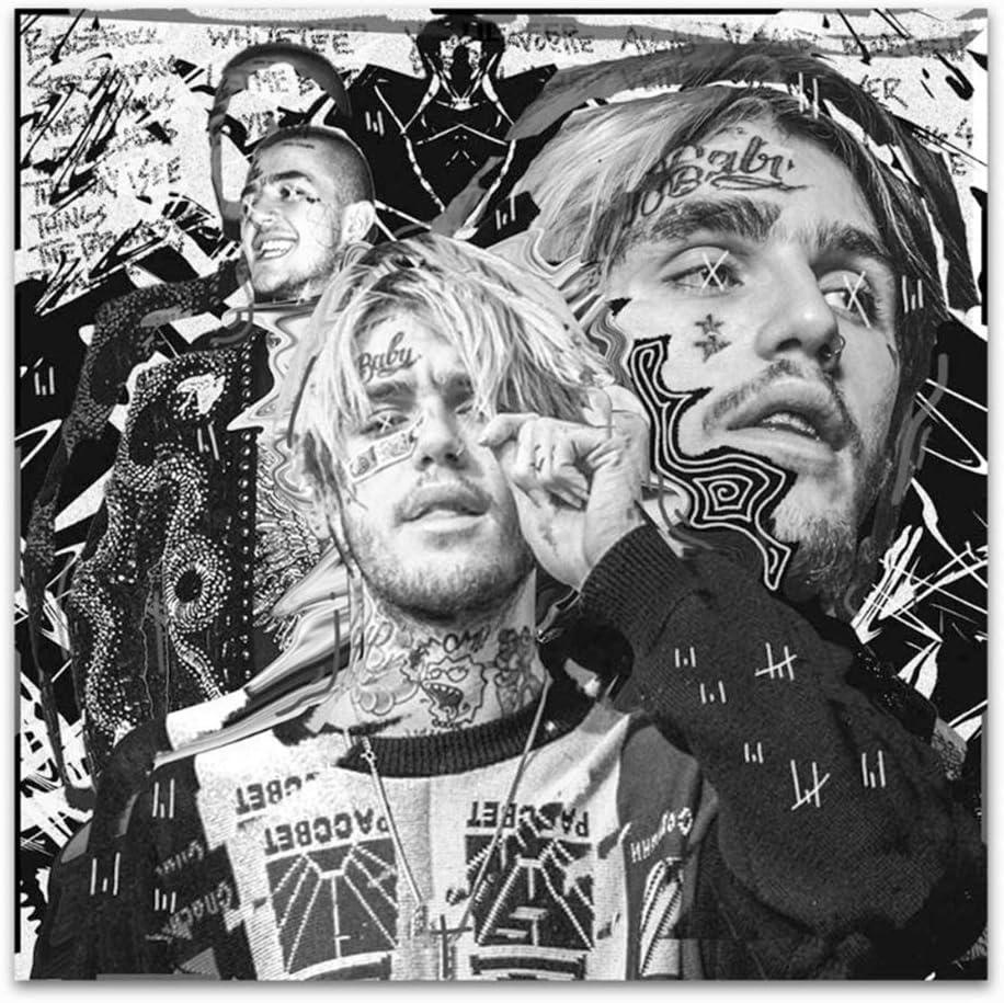 60x60cm Kein Rahmen chtshjdtb Lil Peep Mein Ex-Cover Rap Musik Star Album Malerei Kunst Poster Dekoration Geschenk Druck Leinwand Wohnkultur Bild Wanddruck