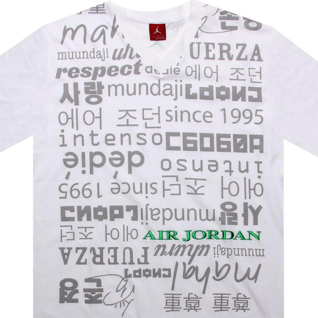 4f36f18d48fbcf Amazon.com   Nike men air Jordan V-neck respect Tee shirt (size  3XL)    Sports   Outdoors