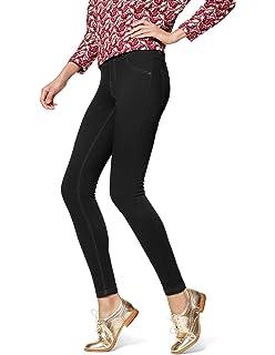 59f169d1a8b3d5 HUE Women's Essential Denim Leggings at Amazon Women's Clothing store: