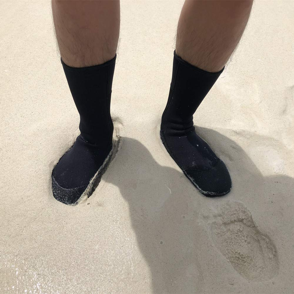 3mm Beach Socks for Snorkeling Fishing Water Sports Beach Volleyball Soccer Premium Glued and Blind Stitched TECH Neoprene Socks Sand-Proof and Keep Warm Durable for Men Women