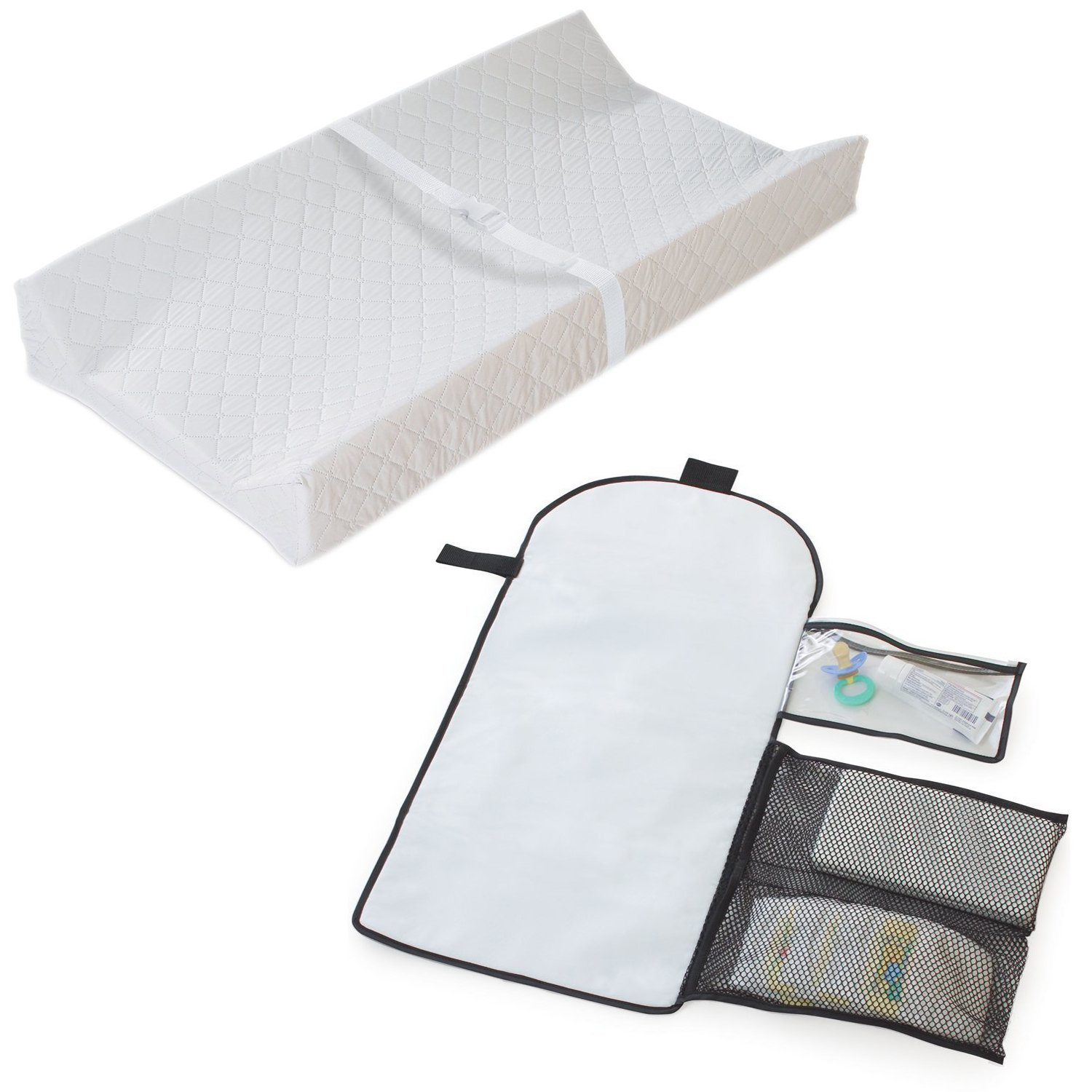 Summer Infant Contoured Changing Pad with Change Away Travel Diaper Changing Pad