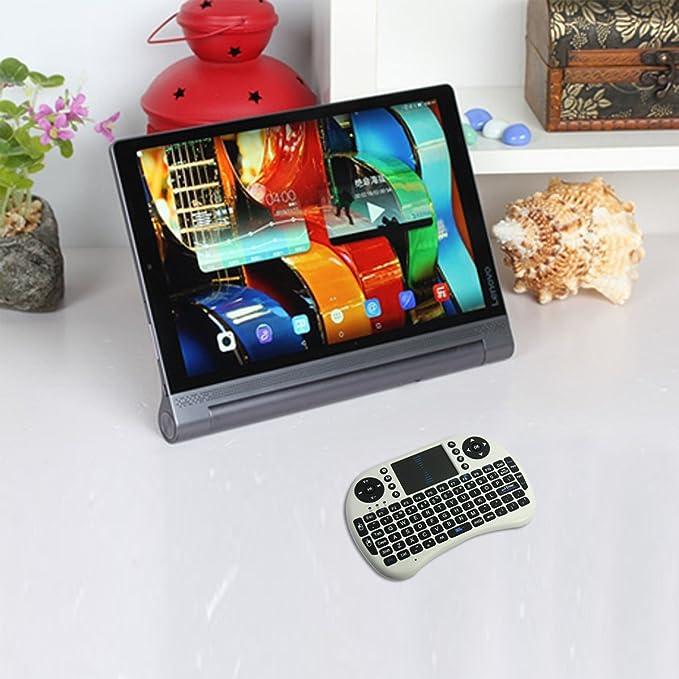 ÁpexTech Mini Teclado Inalámbrico portátil Multifunción con Touchpad para el PC, HTPC, TV, Móvil,Vehículo, Smart TV Box, Windows OS, Mac IOS, Linux, Android Blanco: Amazon.es: Electrónica