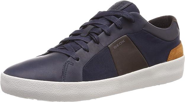 Geox U Warley B Sneakers Herren Blau/Coffee