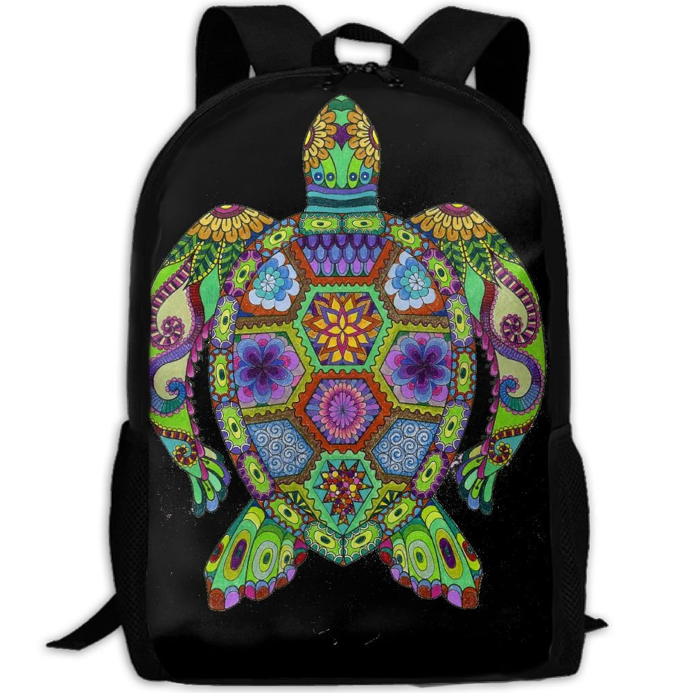 Trippy Ocean Turtle Unique Outdoor Shoulders Bag Fabric Backpack Multipurpose Daypacks For Adult free shipping
