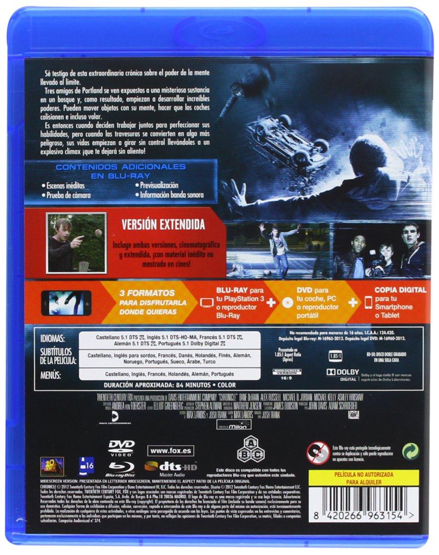 Amazon.com: Chronicle (Bd+Dvd+Copia Digital) (Blu-Ray) (Import Movie) (European Format - Zone B2) (2012) Dane Dehaan; Ale: Movies & TV