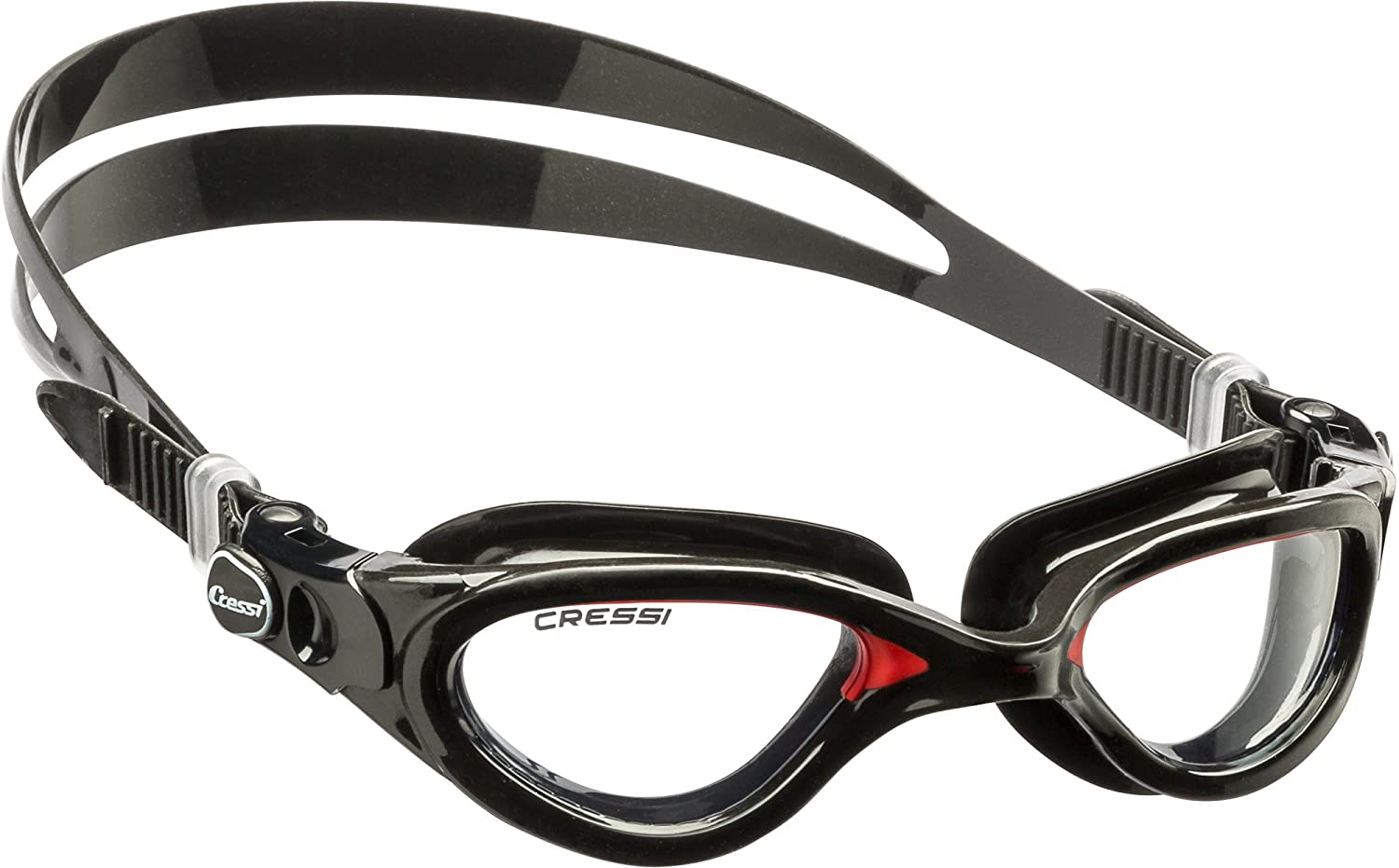 Cressi FLASH DE202391, Adult Swim Goggles, Negro/Rojo: Amazon.es: Deportes y aire libre