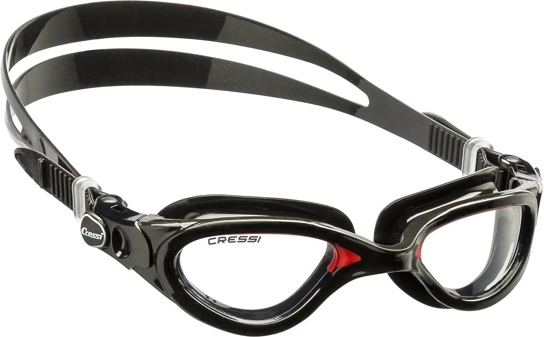 Cressi Flash DE Gafas de natación unisex negro  rojo