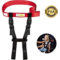 Child Airplane Travel Safety Harness Approved by FAA, Airplane Travel Safety Clip Strap Baby, Kids & Toddlers Restraint System with Free Carry Pouch Bag- Strictly for Aviation Travel Only