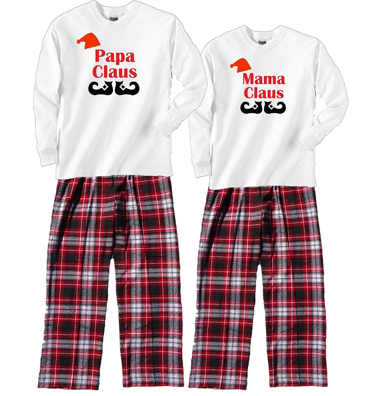 Amazon.com: Fun Couples Matching Christmas Pajamas - Mama Claus ...