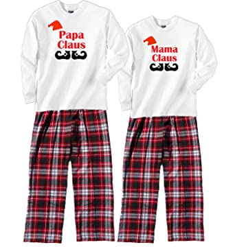 Footsteps Clothing Mama Claus White Pajama Set - Adult Small, L/S, CRB
