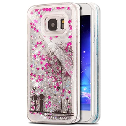 low priced b8dee 2f688 Galaxy S7 Case Samsung Galaxy S7 Case for Girls EMAXELER 3D Creative Design  Angel Girl Flowing Liquid Floating Bling Shiny Liquid PC Hard Case for ...