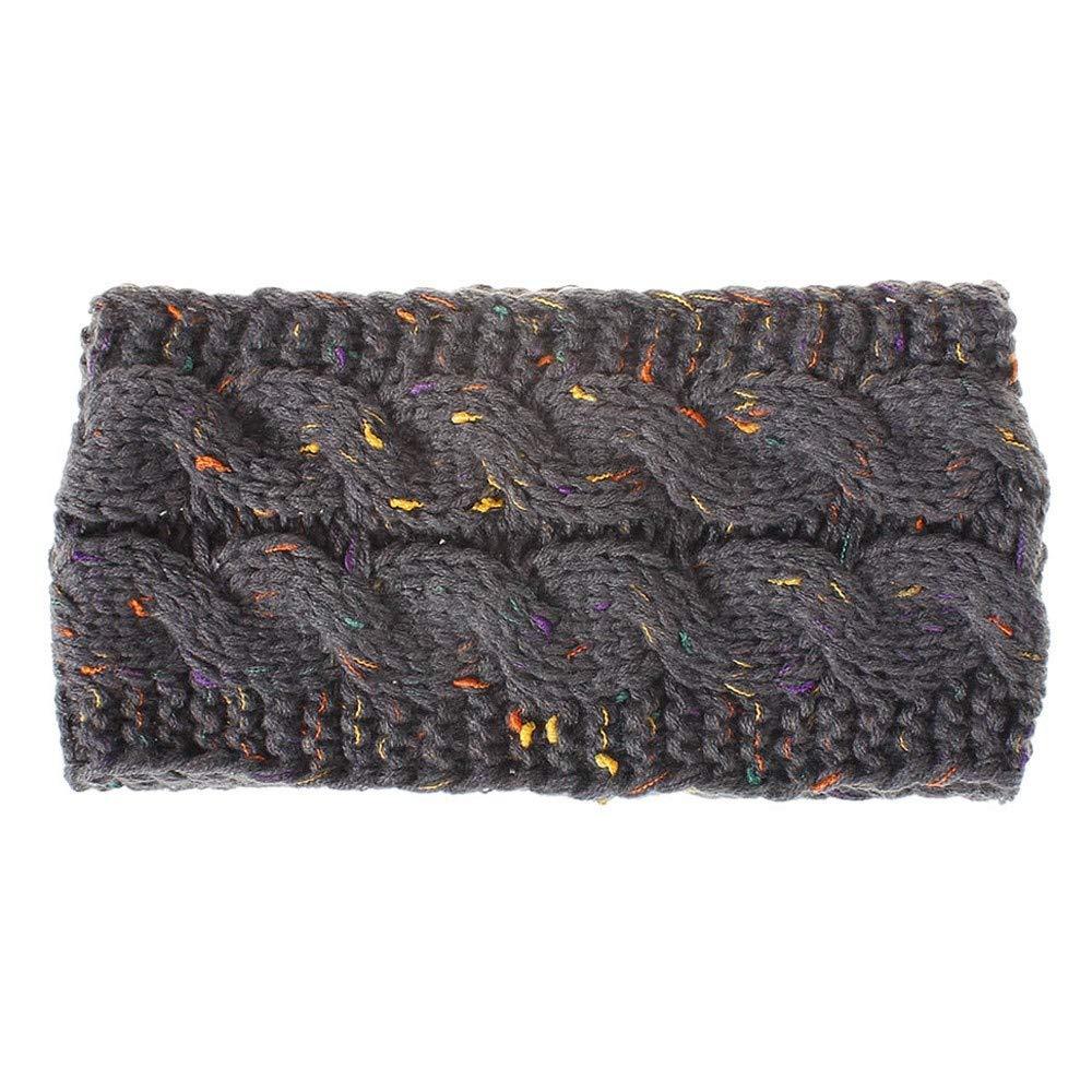 Bande de cheveux en laine tricotée pour femmes couleur de la fleur cache-oreilles chauds bigarré cheveux mode bandeau bandeau tricot bandeau cheveux bande cerceau Siilrut