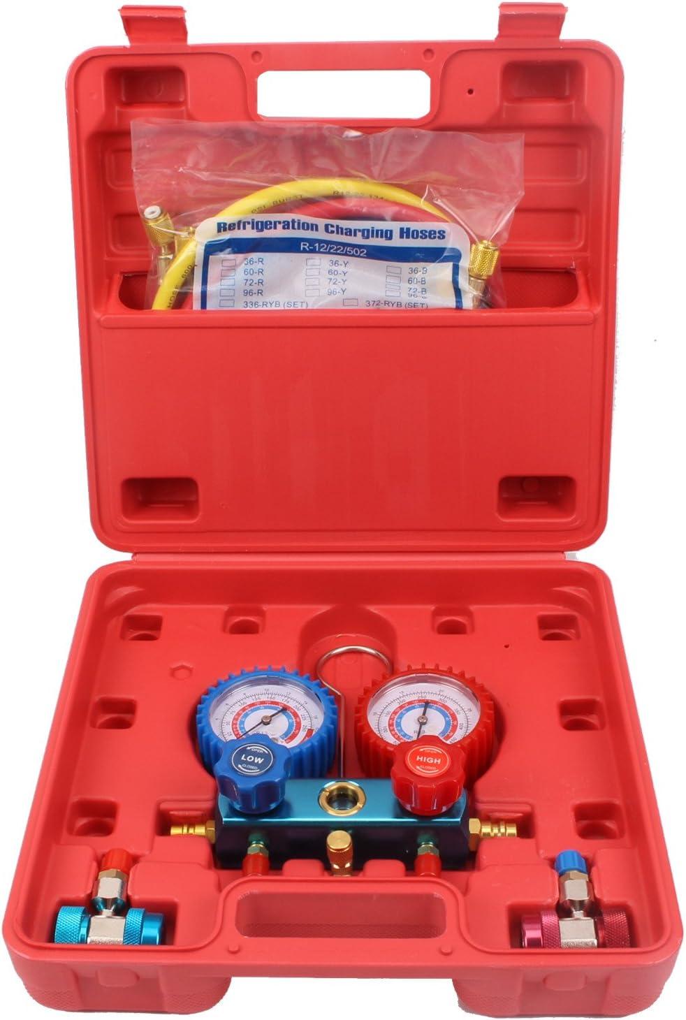 CCLIFE medidor de refrigerante de aire acondicionado para R134a R22 R410a R404a HVAC