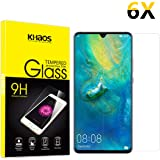 Screen Protector for Huawei Mate 20 X, [6 Pack] KHAOS Tempered Glass Screen Protectors for Mate 20X - 9H HD-Clear Anti…