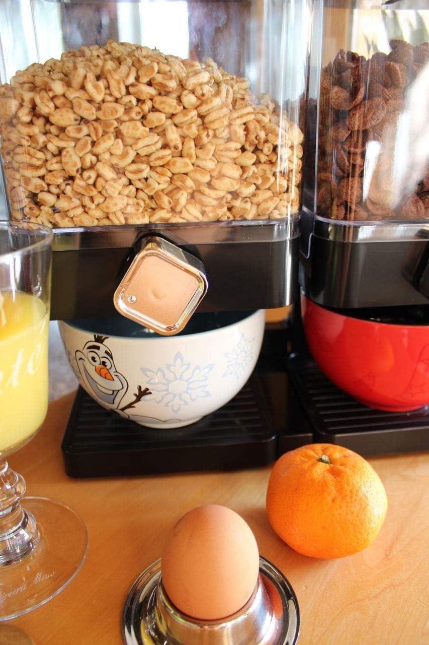 Version:Schwarz M/üslispender Cerealienspender Cerealien Cornflakes M/üsli Spender Dispenser Beh/älter Doppelspender eckig
