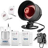 KERUI - Sistema de seguridad para el hogar, para interiores y exteriores, resistente a la intemperie, sensores de movimiento