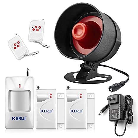 KERUI Home Security System Indoor Outdoor Weather-Proof Siren Window Door Sensors Motion Sensor Alarm with Remote Control more DIY, Wireless Home ...