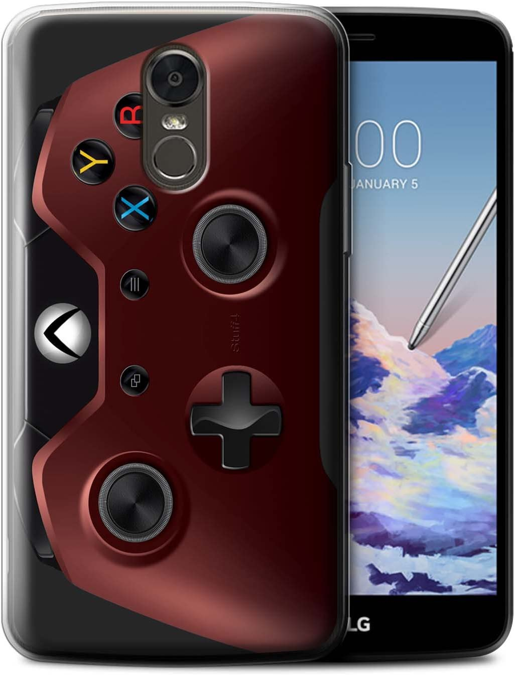 STUFF4 Gel TPU Phone Case/Cover for LG Stylus 3/Stylo 3/K10 Pro/Red Design/Gamer/Xbox One Collection