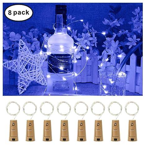 Idefair Botellas de Vino Luces de Corcho Alambre de Cobre para la Decoración del Dormitorio Boda