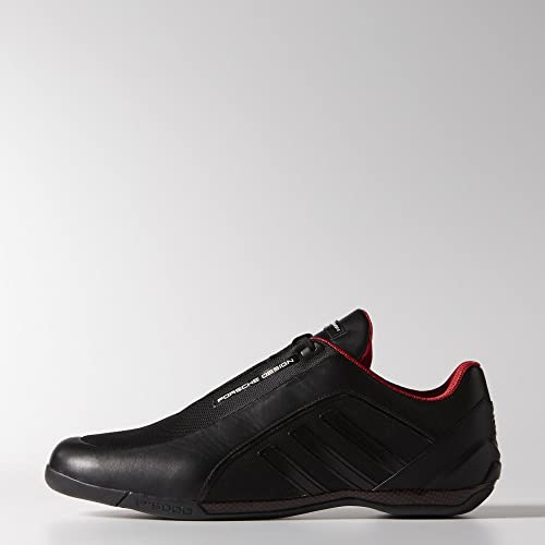 san francisco e29ee 99248 adidas Porsche Athletic II Mesh full Men Sneakers Black Red M19808 (SIZE  8